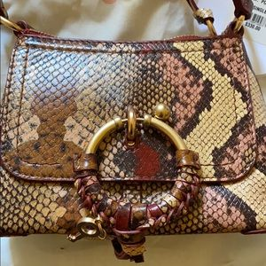 See by Chloe python print convertible bag NWT
